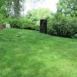 6/22/15: By this time the grave is nearly one with the landscape, an obscurity it enjoyed until it was finally marked -