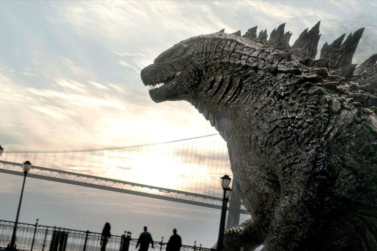A still from the upcoming movie Godzilla