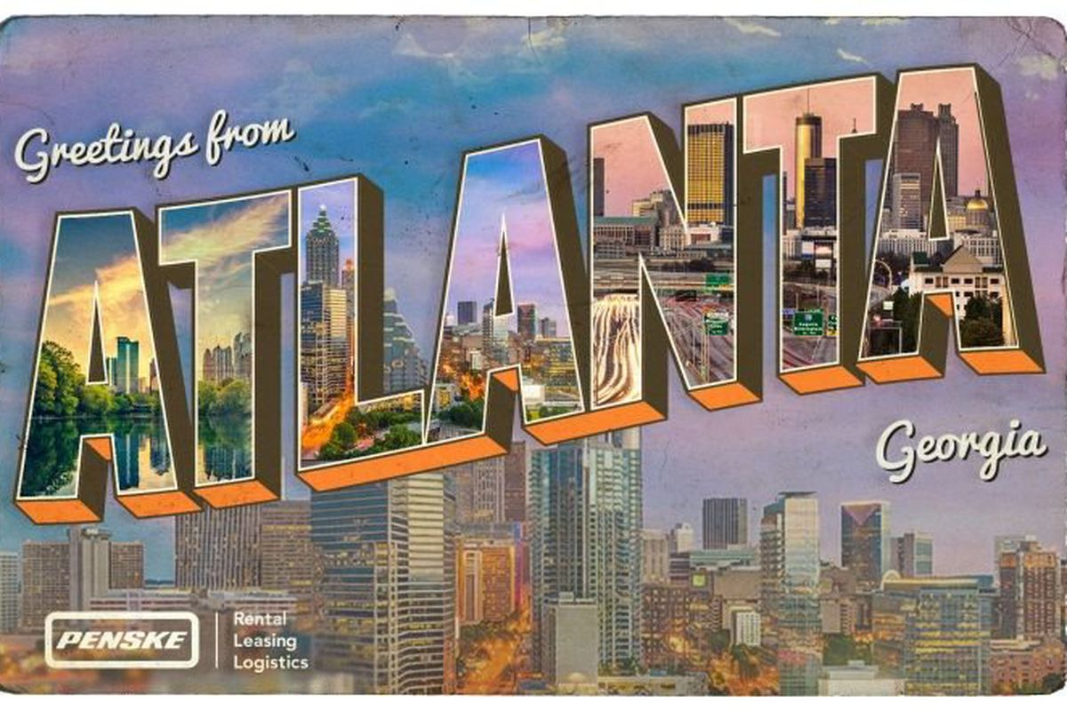 Truck-rental company Penske distributed this image in January when Atlanta ranked as their top moving destination—for the eighth consecutive year.