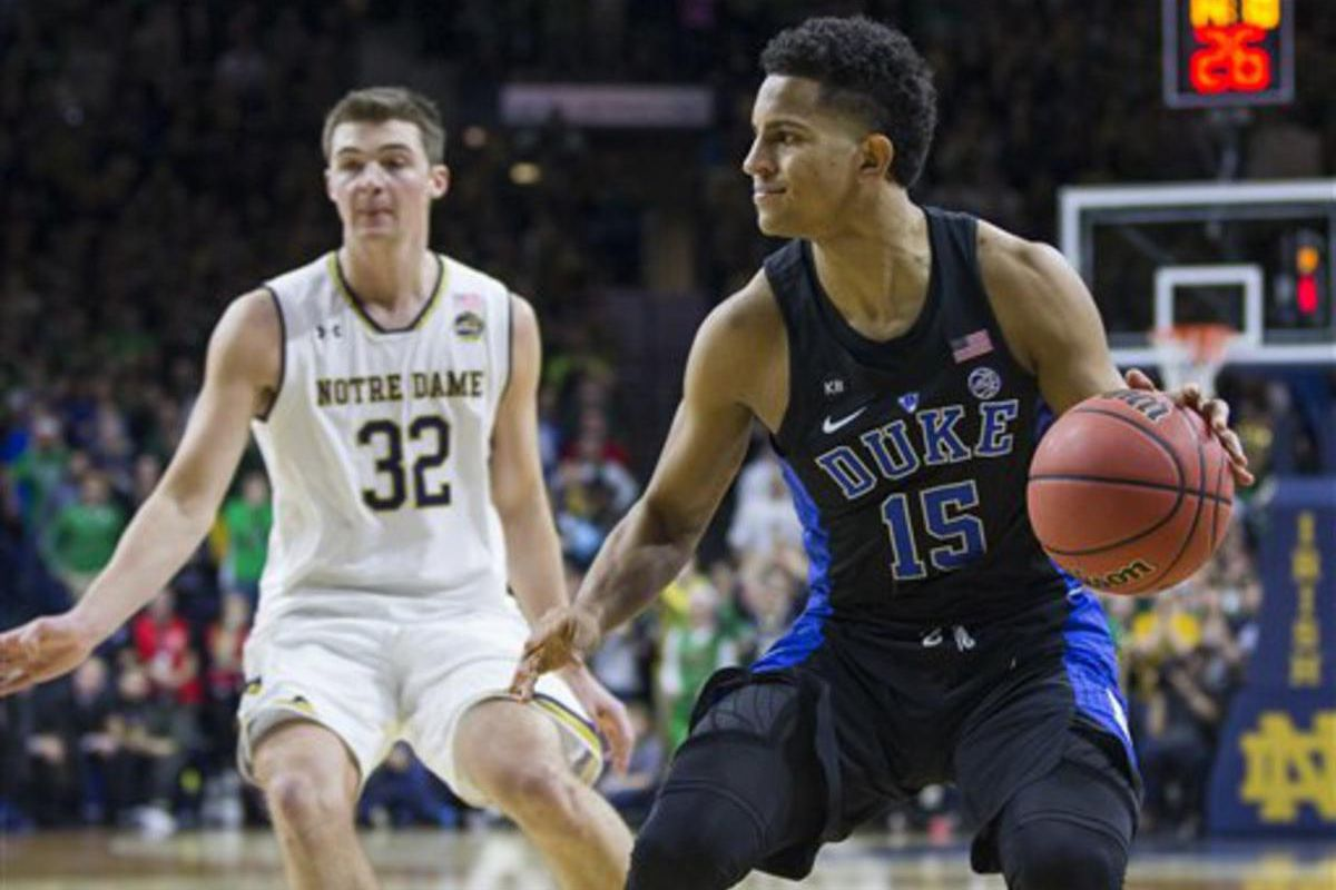 ESPN's Chad Ford has the Jazz selecting Duke guard Jackson with its 24th overall pick.