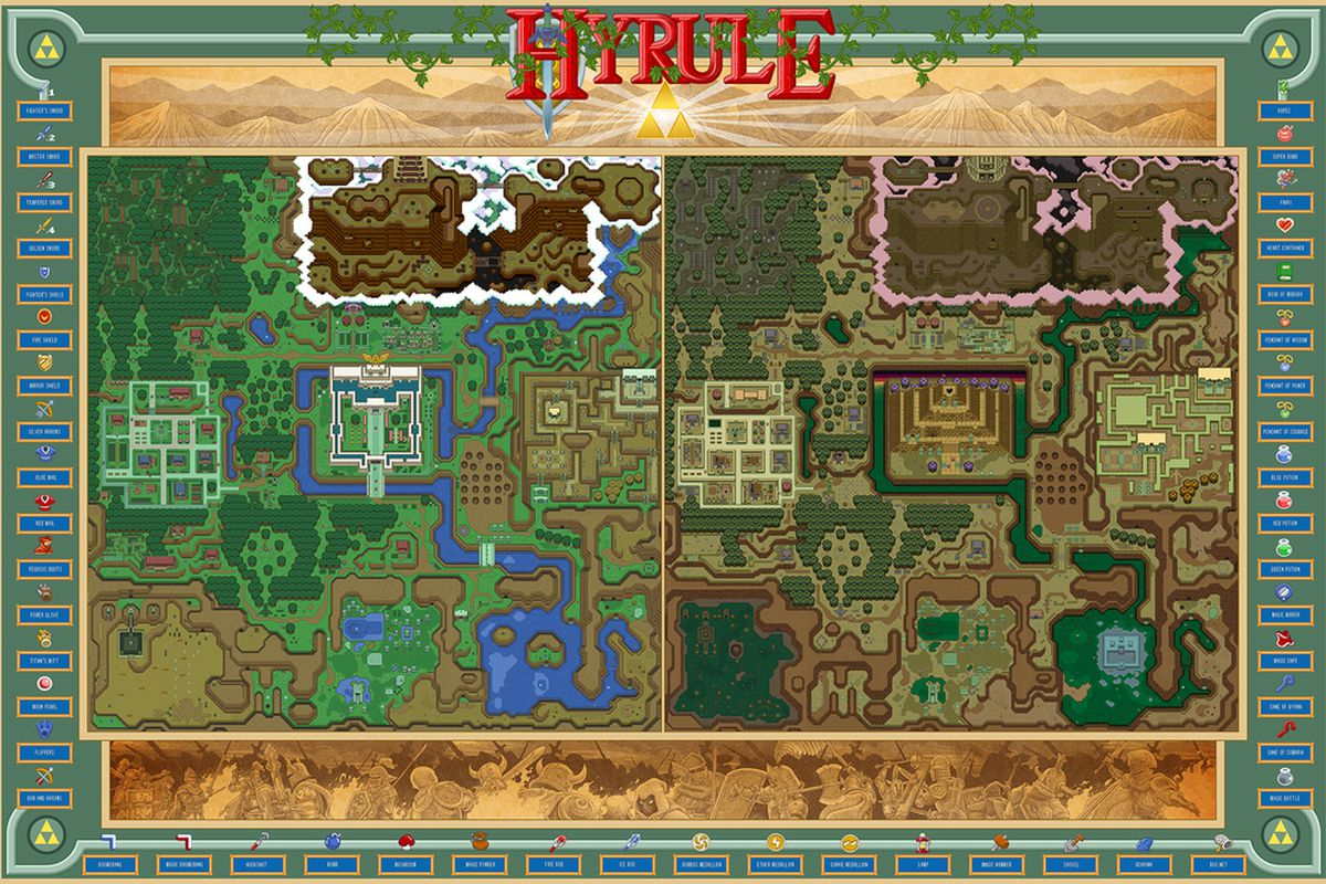 Zelda Link To The Past World Map on zelda a link to the past map background, link to the past turtle rock map, spirit tracks zelda a link to the past map, zelda dark world map, legend of zelda link to the past dungeon map, zelda skyward sword world map, a link to the past dark palace map, a link to the past overworld map, link's awakening world map, zelda 1 secrets, link to the past item map, nes zelda world map,