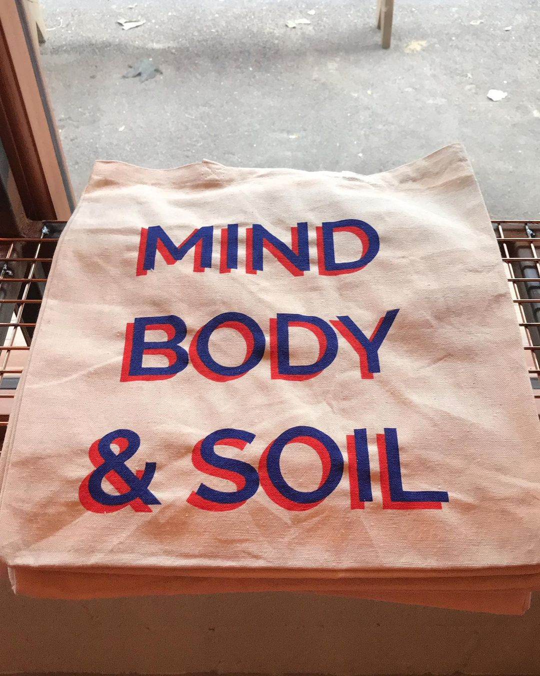 London's best restaurant merch includes this Mind, Body, & Soil tote bag from Jolene