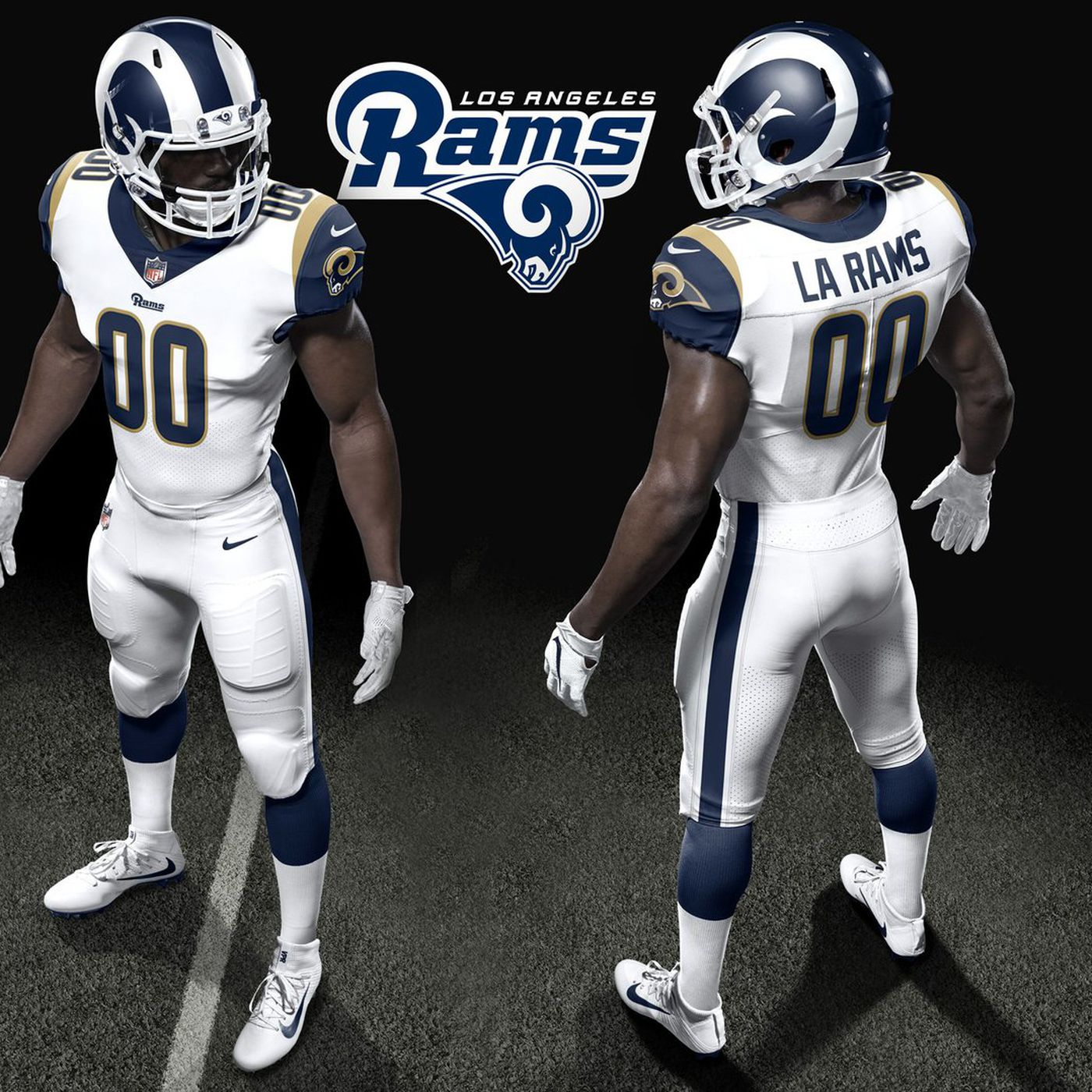 La Rams Unveil Uniforms For 2017 Turf Show Times