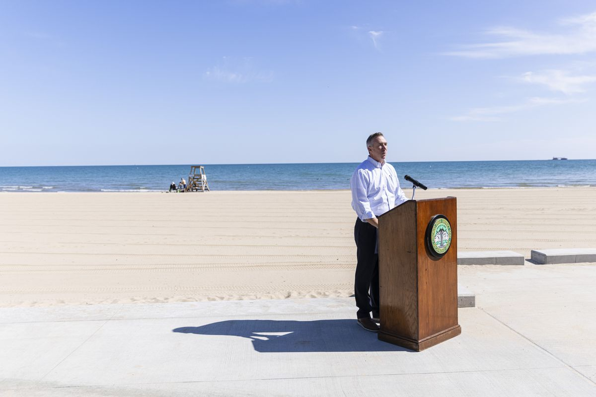 Chicago Park District Supt. Mike Kelly made the announcement  during a news conference Monday at the South Shore Beach House.