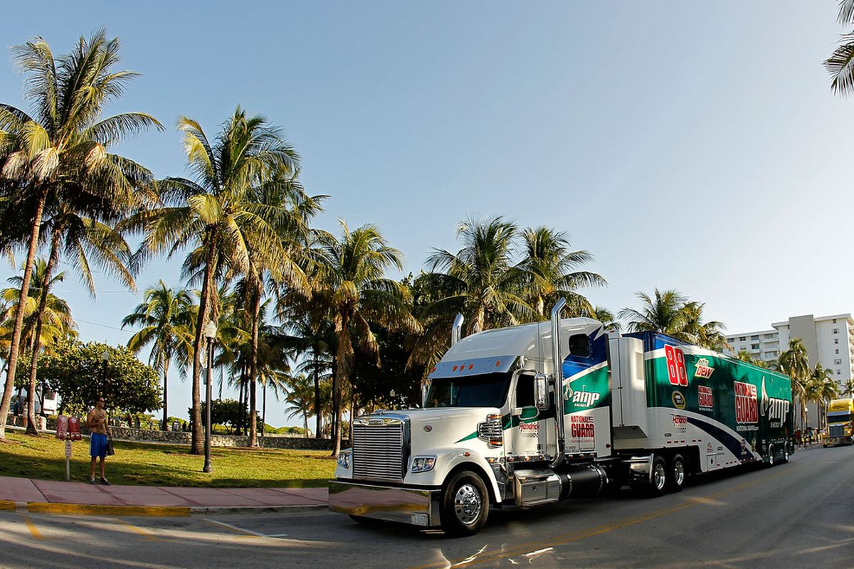Is this why everyone wants to go to Florida? (Photo by Mike Ehrmann/Getty Images for NASCAR)