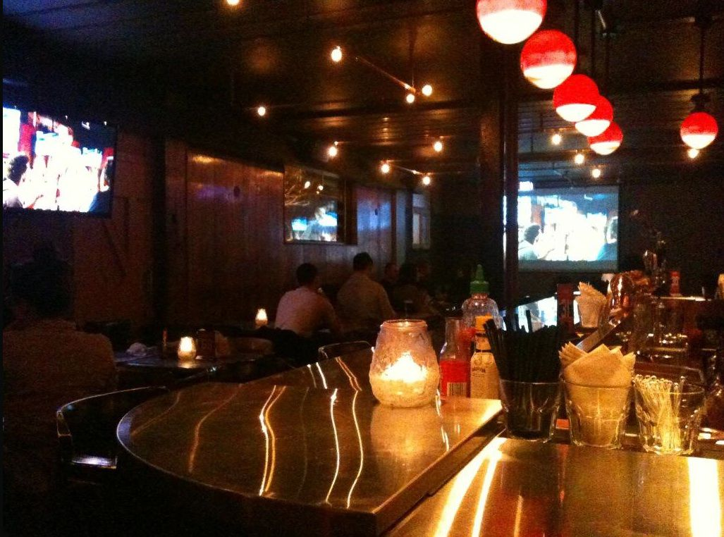 An interior view of the bar.