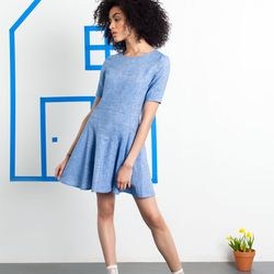 William Okpo denim shift ruffle dress, $90 at In Support Of (was $275)