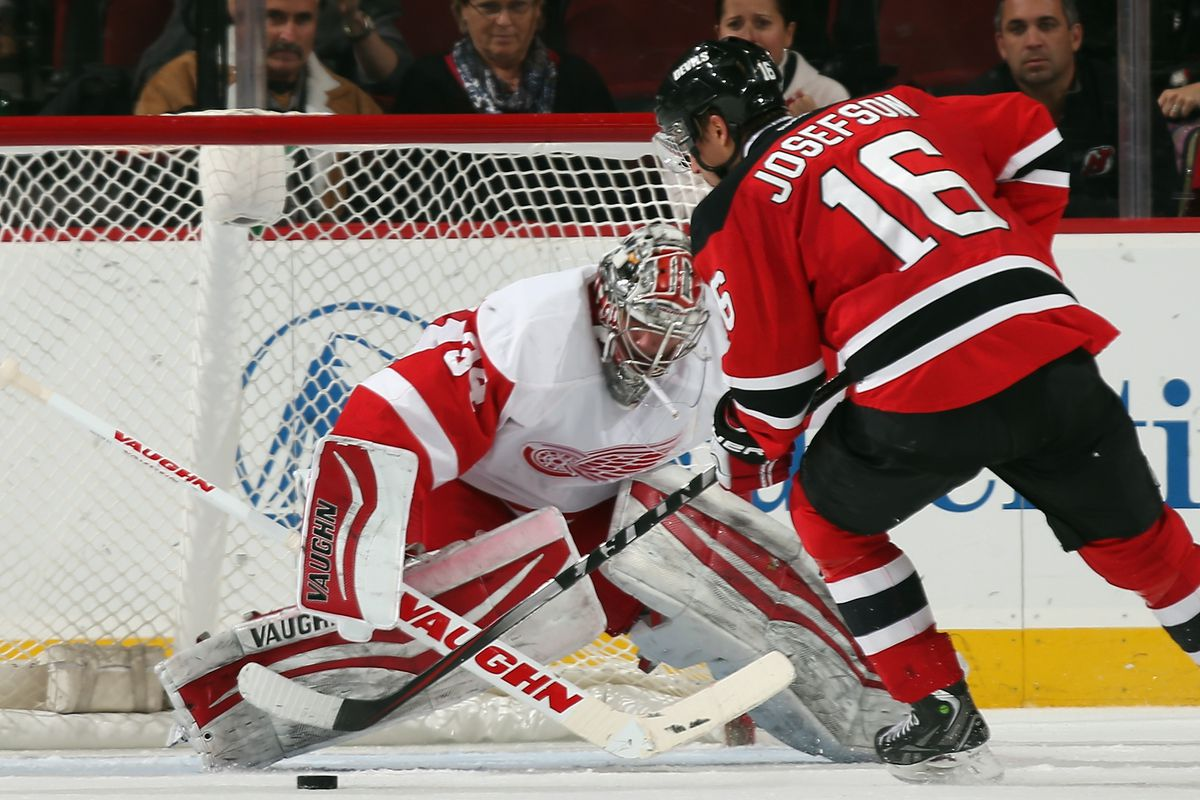 The last time Detroit came to New Jersey, they beat the Devils 5-4 in a shootout last November.  Maybe this night will go...better? Somehow?