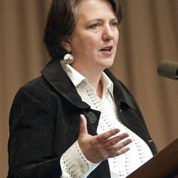 This photo provided by USDA, Agriculture Deputy Secretary Kathleen Merrigan speaks during a meeting at the U.S. Department of Agriculture, in Washington DC, Tuesday, September 20, 2011, in this handout photo provided by the U.S. Dept. of Agriculture. (AP Photo/United States Department of Agriculture, Bob Nichols)