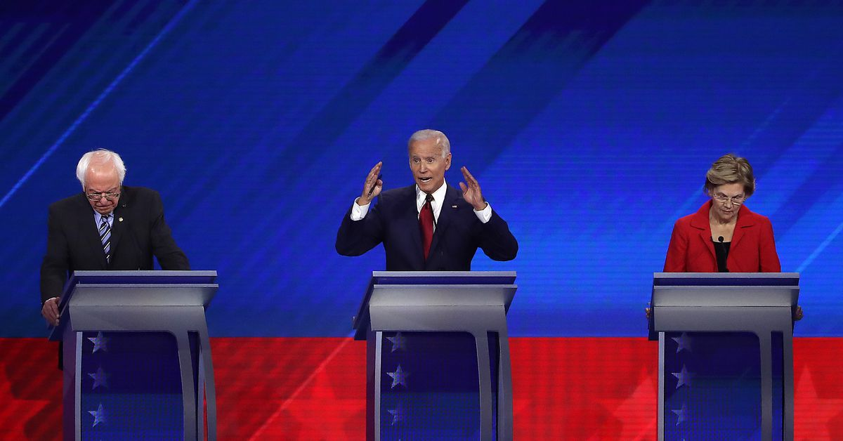 Bidens record player gaffe at the Democratic debate, explained