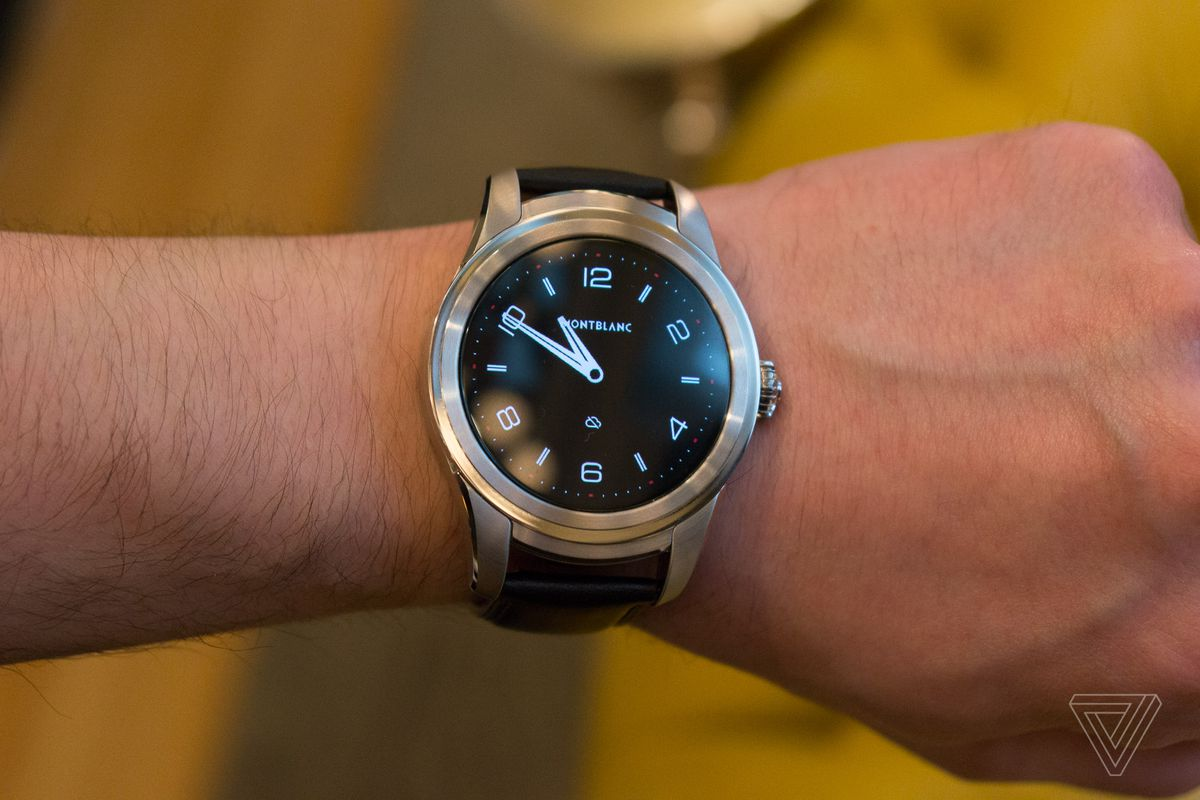 c2e8a8234974 Montblanc s first smartwatch is a big lump of Android Wear luxury ...