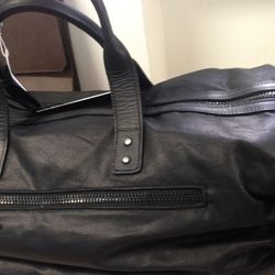 Waxed canvas travel bag, $119