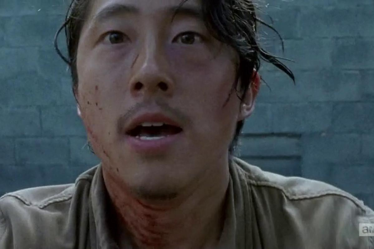 Glenn from The Walking Dead.