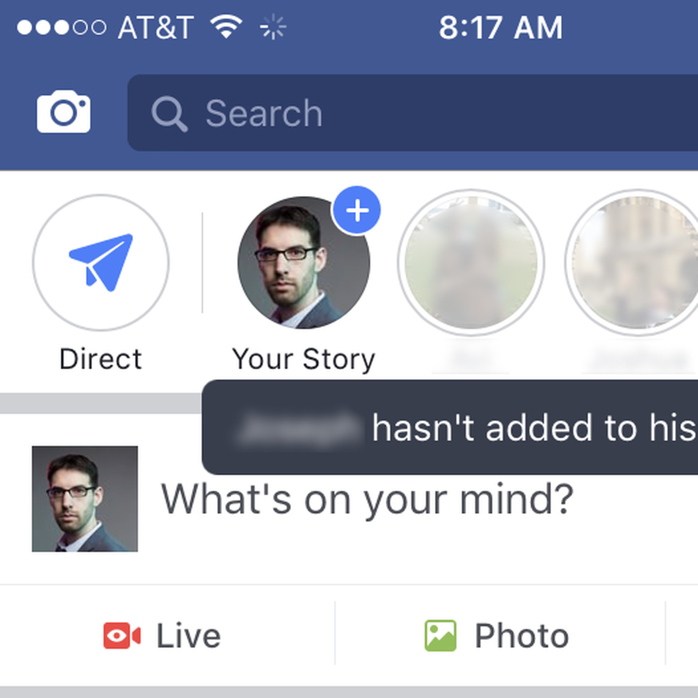 No one is using Facebook stories, so it turned your friends
