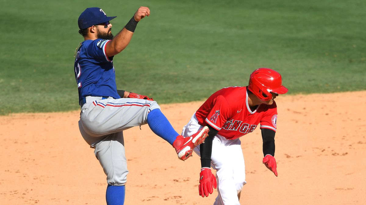 Texas Rangers v Los Angeles Angels