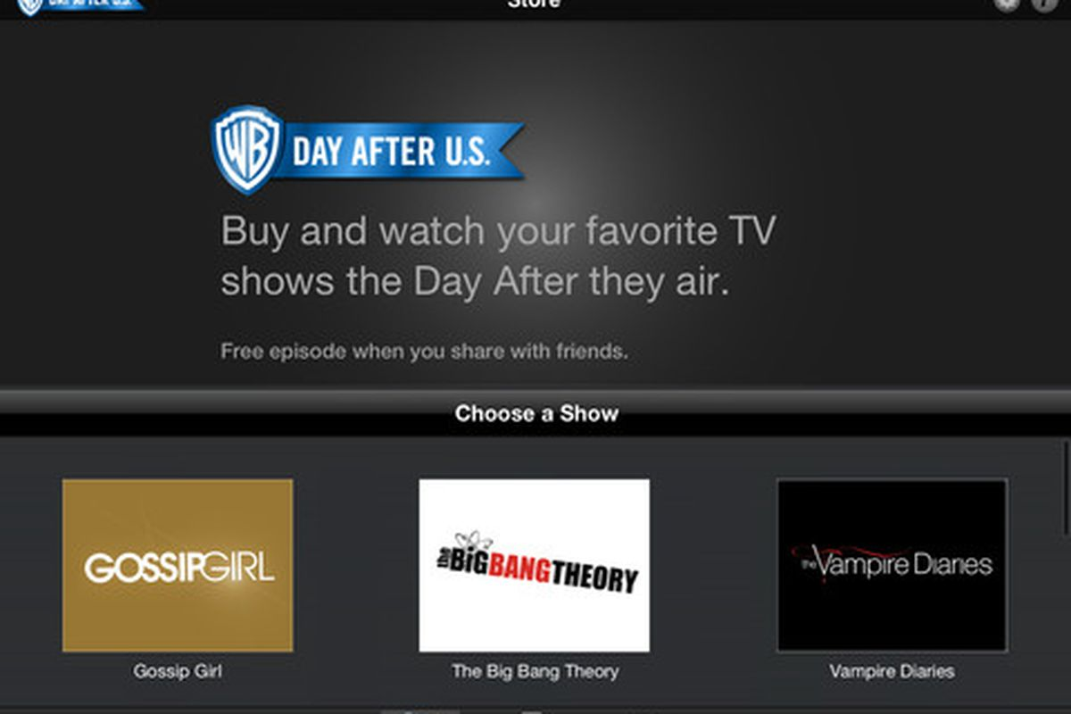 Warner Bros iOS app lets users watch TV shows the day after
