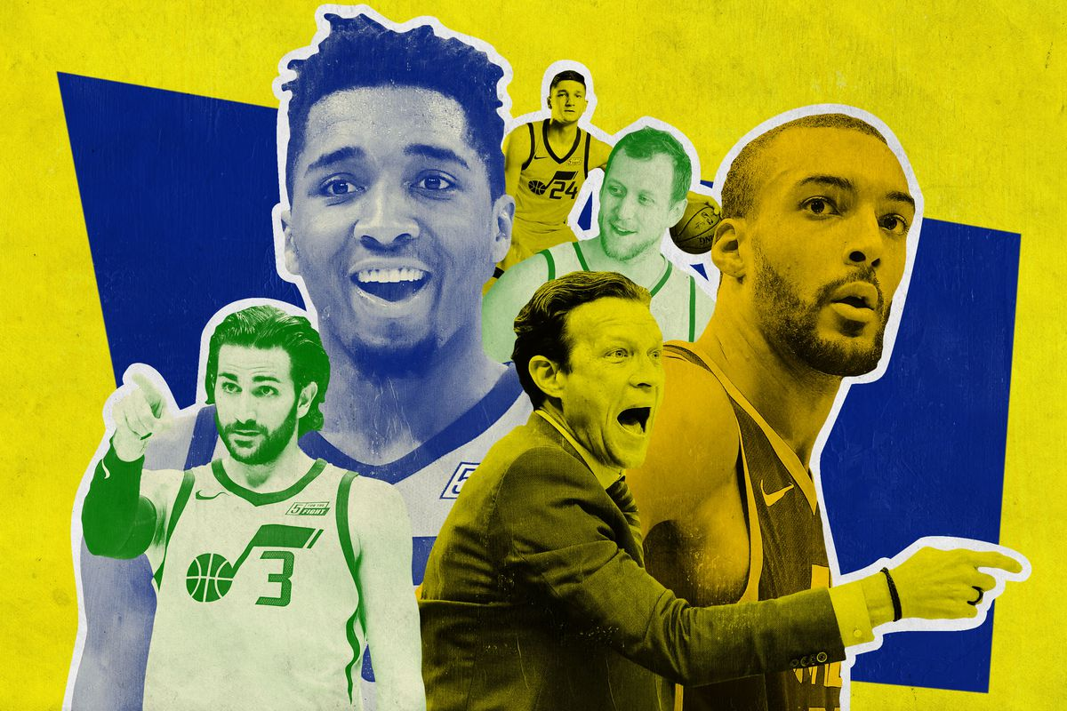 A collage of Utah Jazz players