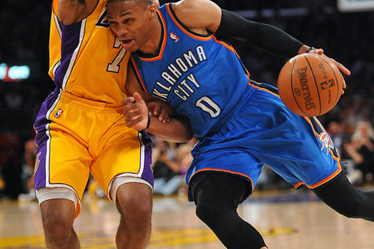 Russell Westbrook listens to his opponents heartbeats before defeating them.