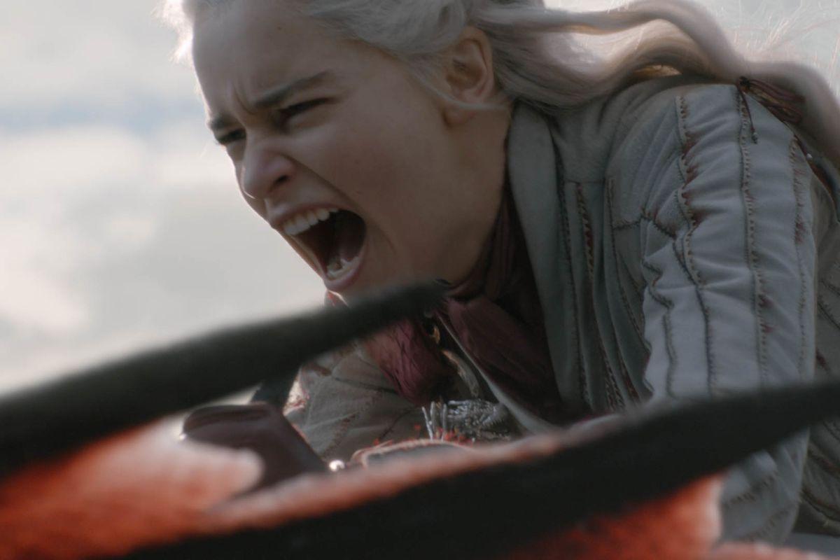 daenerys on drogon the dragon game of thrones season 8