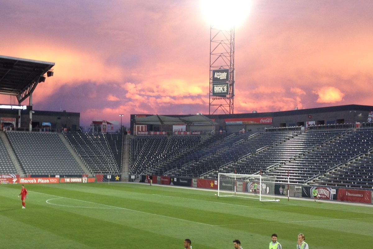 We sure do get pretty sunsets at DSGP. Oh yeah, and the Rapids won.
