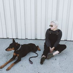 """<b>Courtney Trop</b> of <a href=""""http://alwaysjudging.com/""""target=""""_blank"""">Always Judging</a> on her nine-year-old Doberman, Turbo: """"She circles me when we go on hikes to protect me, the entire time. She also stands in front of me whenever there's anyone"""