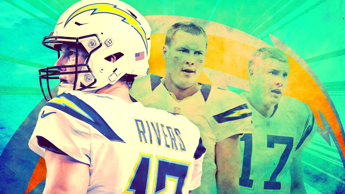 Images of Philip Rivers from three different times in his career