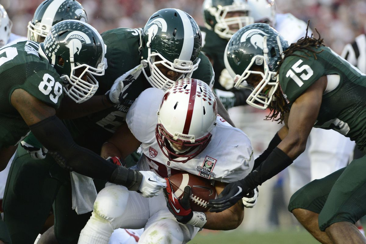 2014 Rose Bowl Results Michigan State Grinds Out A 24 20 Win Over