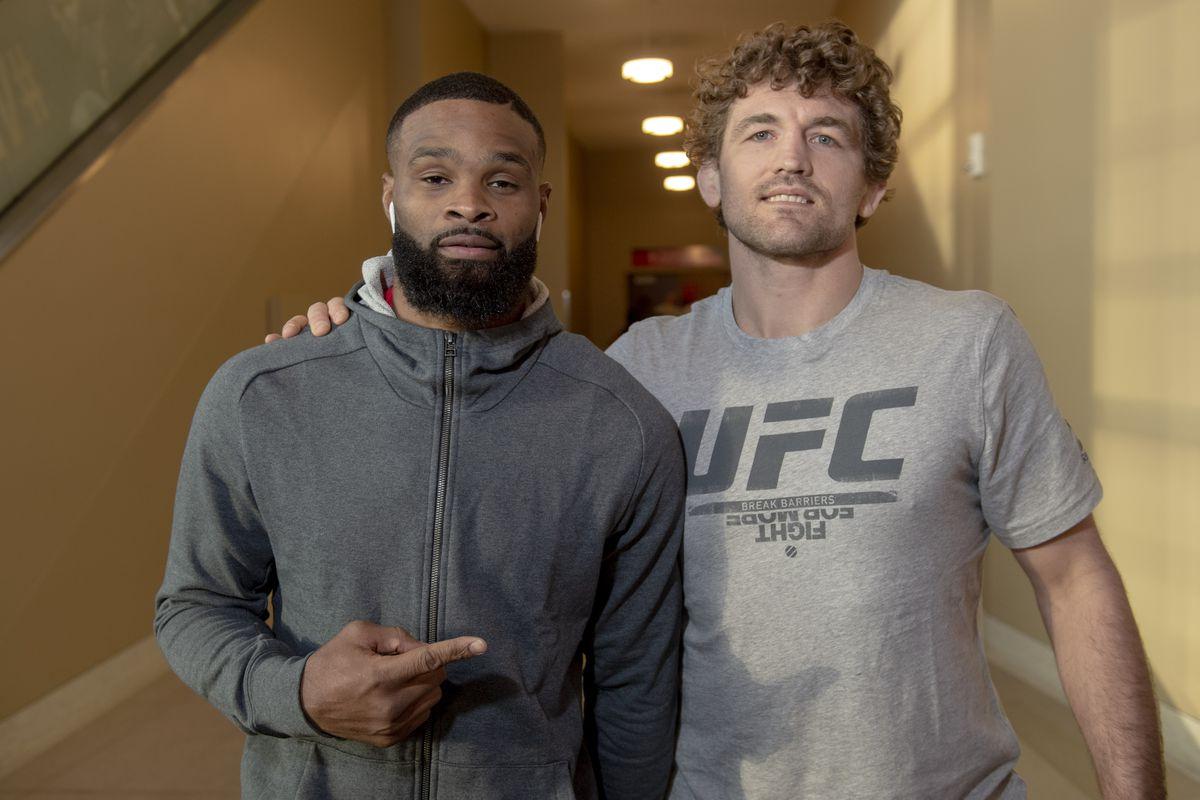 UFC 235 Ultimate Media Day Ben Askren Tyron Woodley