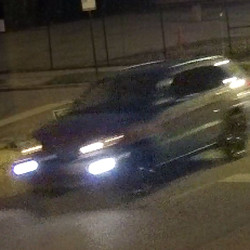 Surveillance footage of suspects and their vehicles
