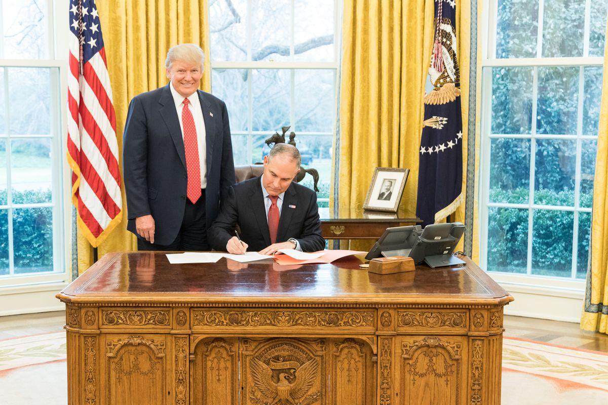 Scott Pruitt made Donald Trump smile.