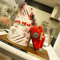 The final look for the Evil Dead cake. Everything is made of cake underneath.
