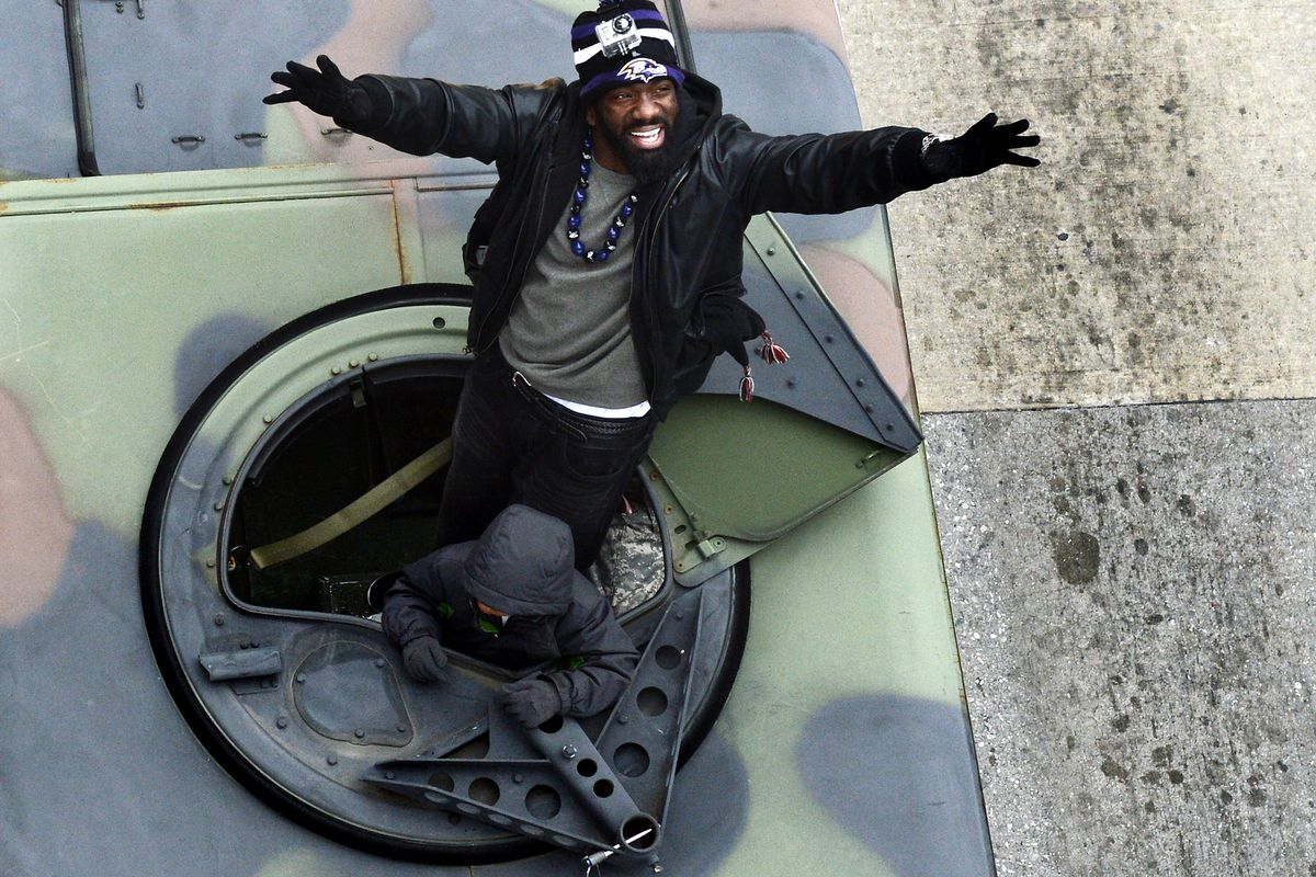 Ed Reed In A Tank.