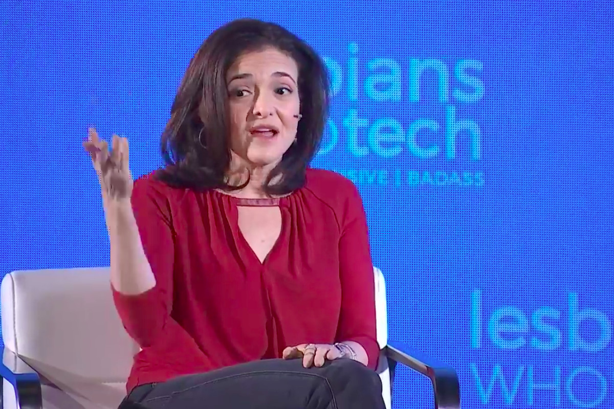 Facebook COO Sheryl Sandberg speaks live at the Lesbians Who Tech conference in San Francisco.