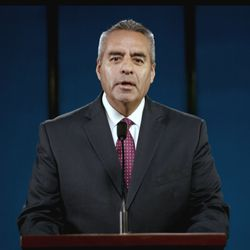 Elder Jorge T. Becerra, General Authority Seventy, speaks during the Saturday afternoon session of the 191st Annual General Conference, broadcast on April 3, 2021.