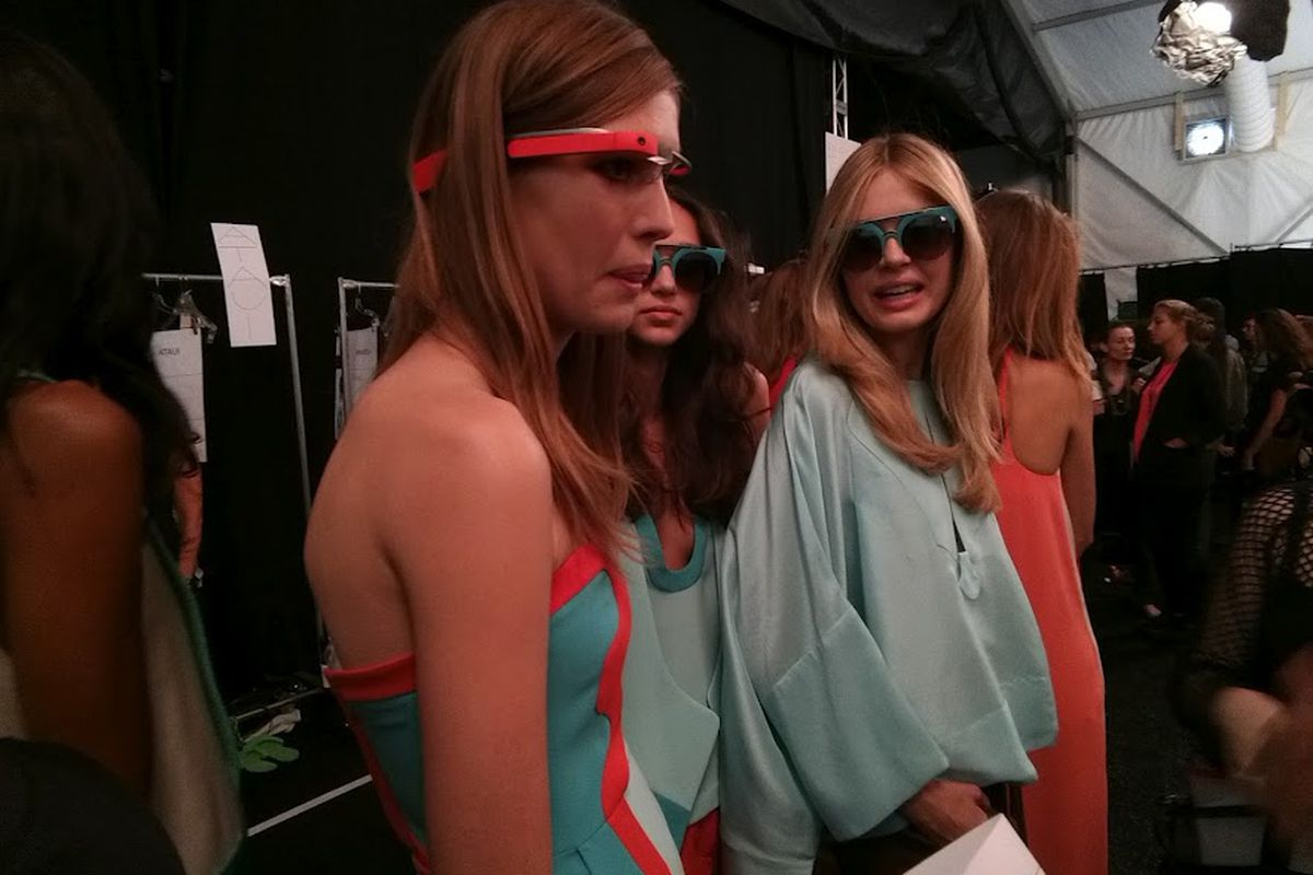 8edde502a6381 Google Project Glass makes it onto the runway to record New York ...