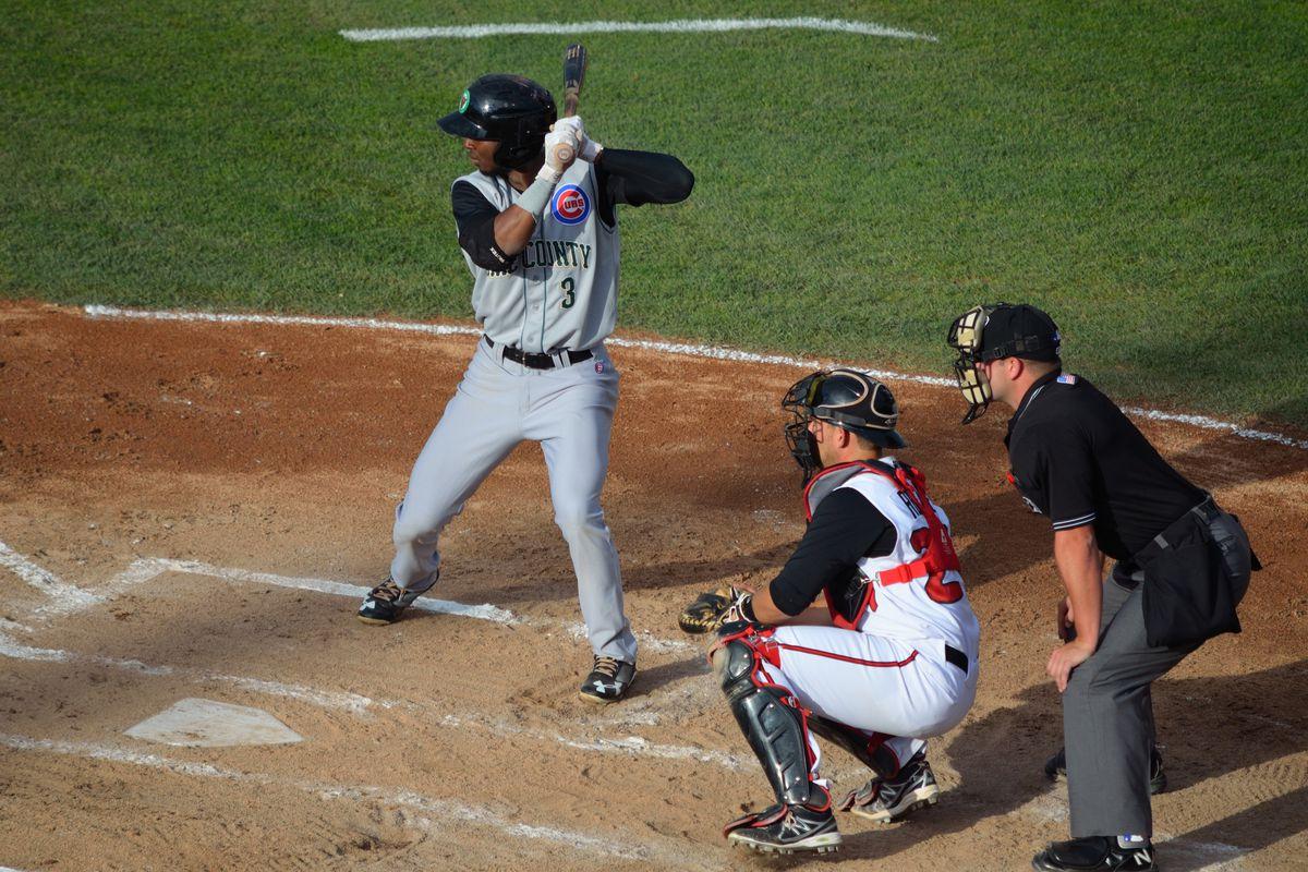 Shawon Dunston Jr. at bat