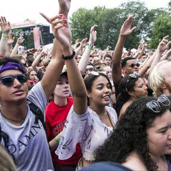 The millennial crowd at Pitchfork Music Festival in Union Park in July 2018. A new report says more than a third of millennials want to leave Chicago.   Ashlee Rezin/Sun-Times