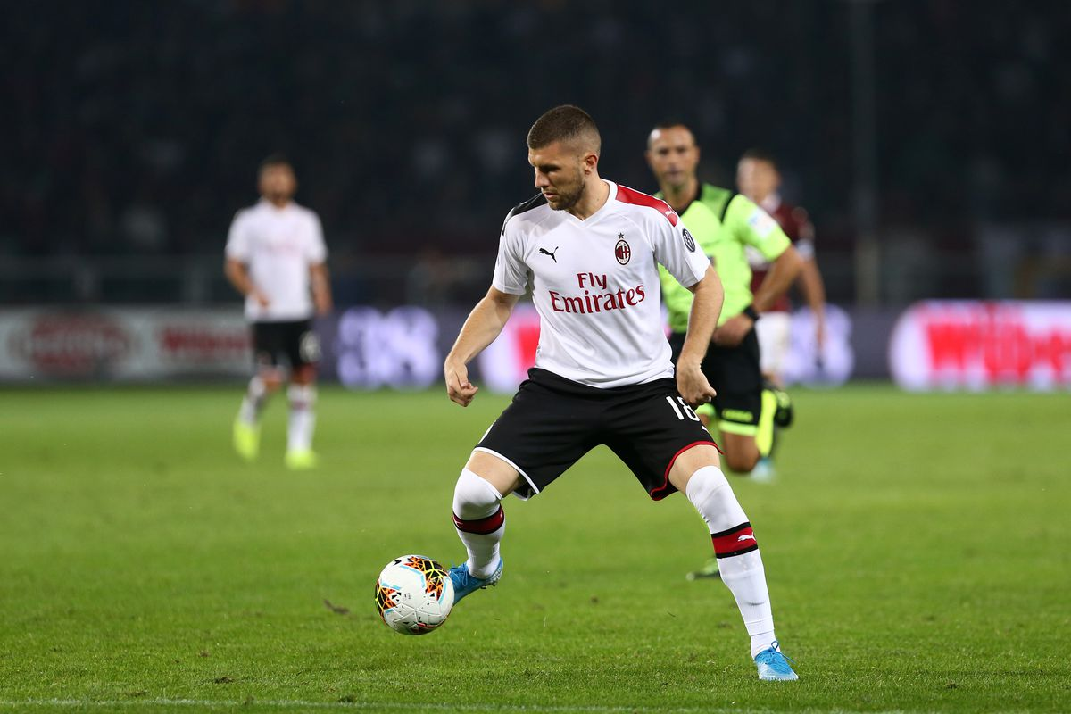 Ante Rebic of Ac Milan in action during the Serie A match...