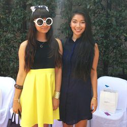 Blogger style was in full effect. Here's Chanelle Laurence of The Penelope Times with Stephanie Liu of Honey & Silk.