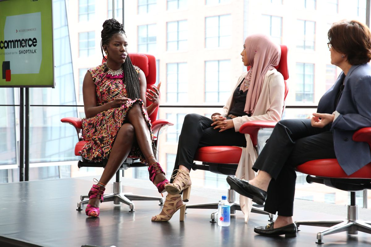 Uber Chief Brand Office Bozoma Saint John onstage at Code Commerce