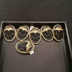 Skull pins, $250