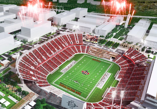San Diego State new football stadium could push Aztecs to