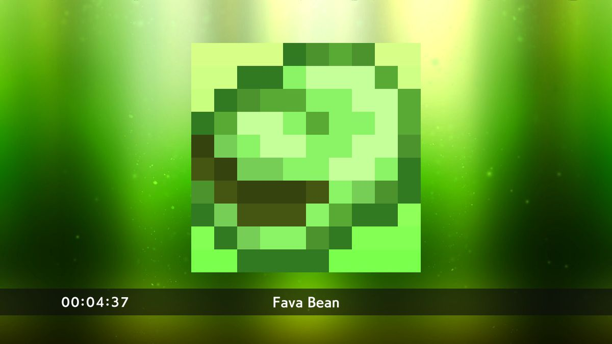 Fava bean puzzle from Picross S3