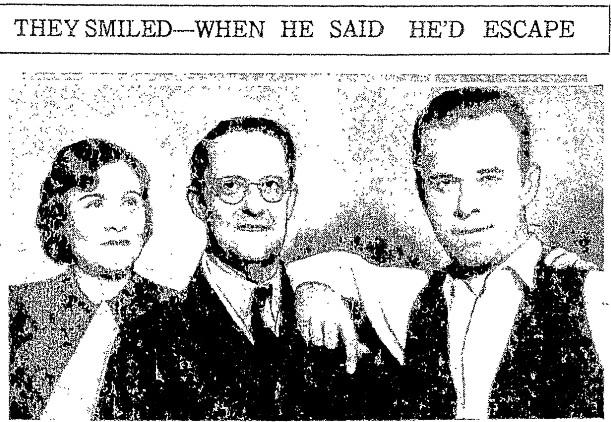 Sheriff Lillian Holley and prosecutor Robert G. Estill pose with John Dillinger