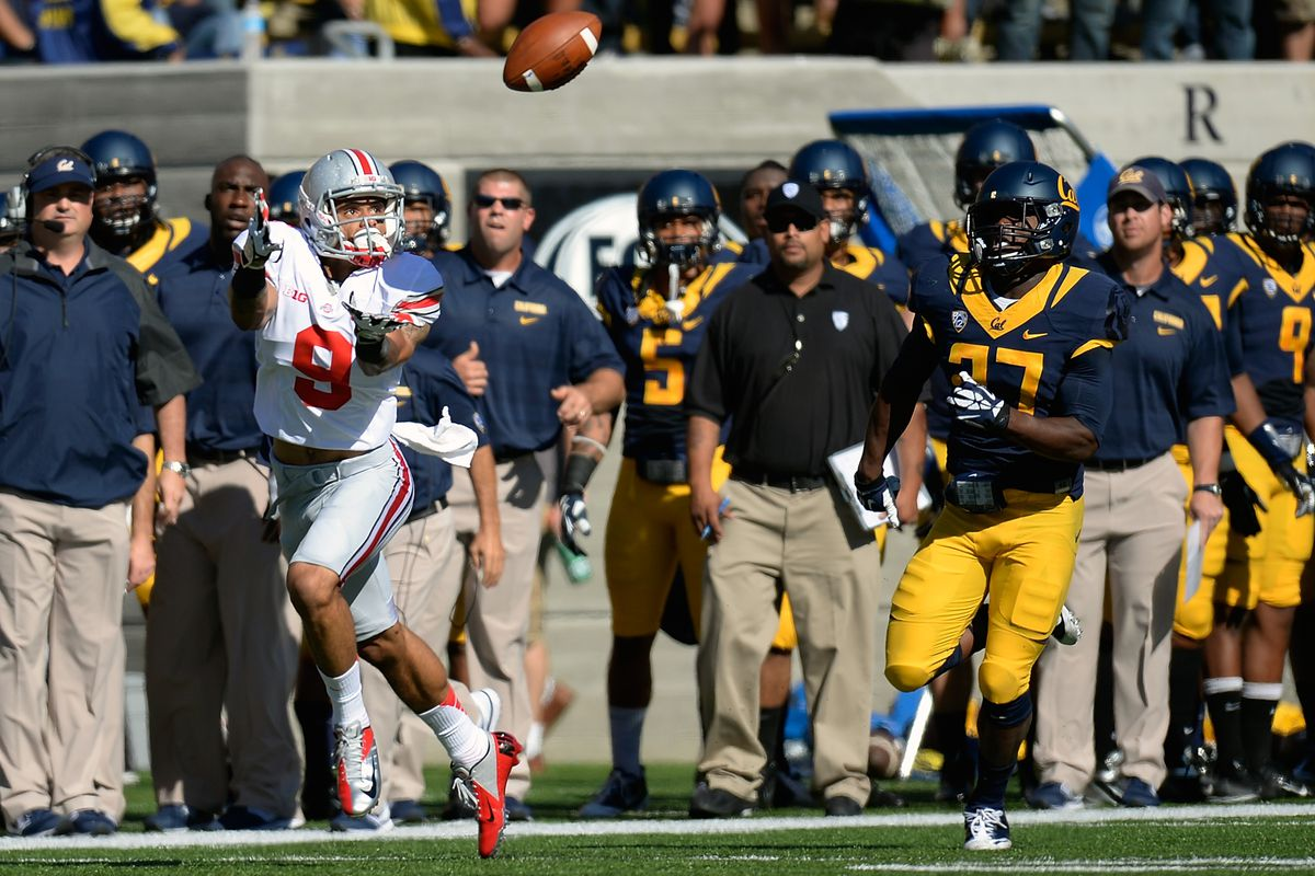 Devin Smith has torched the Cal secondary, helping Kenny Guiton in his first start