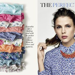 The floral shirts are an easy way to dip your toes into spring, especially since they're $34.50 each.