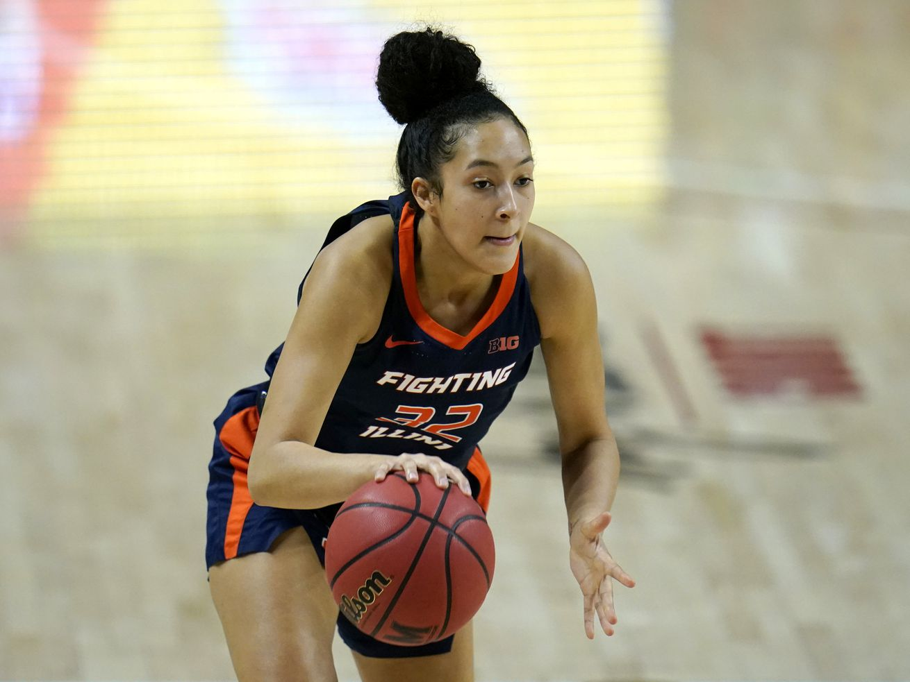 Aaliyah Nye scored a career-high 17 points in Illinois' victory over Wisconsin in the Big Ten tournament.