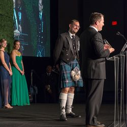 Kilts were among the unusual fashion choices.