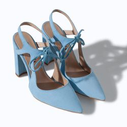 """<strong>Zara</strong> High Heel Leather Court Shoe With Bow, <a href=""""http://www.zara.com/us/en/woman/shoes/high-heel-leather-court-shoe-with-bow-c358009p1694268.html"""">$99.90</a>"""