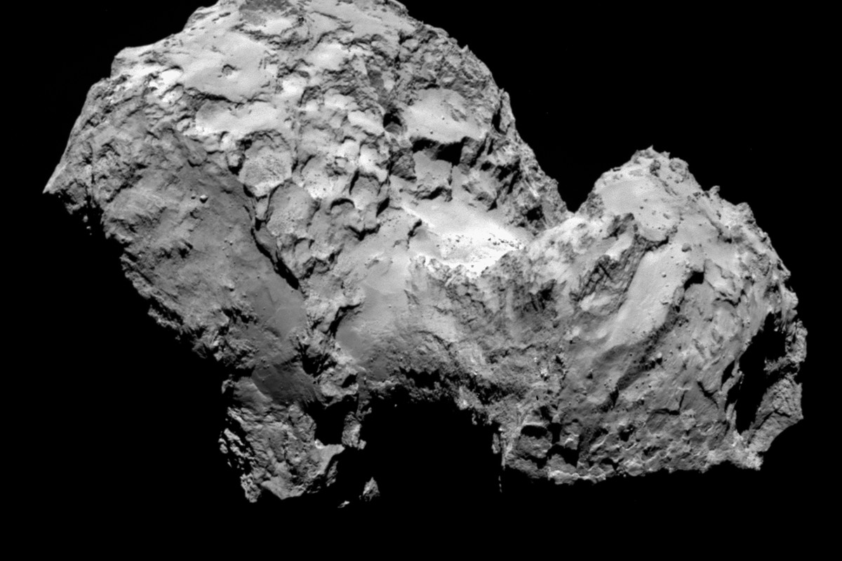A close up of the comet, taken by Rosetta on August 6th.